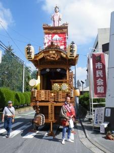 木花咲耶姫君の山車と宮岡会長